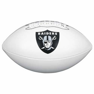 Raiders Wilson Official Team White Autograph Football - Click to enlarge