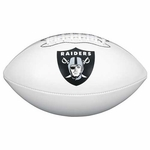 Raiders Wilson Official Team Autograph Football
