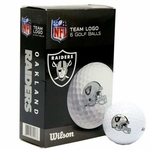 Raiders Wilson Ultra Golf Ball Six Pack
