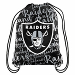 Raiders Women's Script Drawstring Backpack