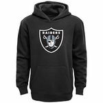 Raiders Youth Black Logo Hoodie