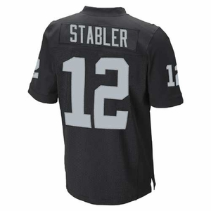 Raiders Youth Ken Stabler Limited Black Jersey - Click to enlarge