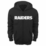 Raiders Youth Wordmark Full Zip Hood