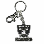 Raiders Zamac Metal Logo Key Tag