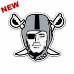 Raiders 12 Inch Pirate Magnet