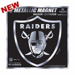 Raiders 12 x 12 Metallic Magnet