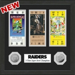 Raiders 12x12 Super Bowl Ticket Collection