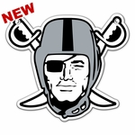 Raiders 18 Inch Pirate Magnet