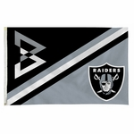 Raiders 3 X 5 Beastmode Shield Flag