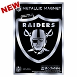 Raiders 3 x 5 Metallic Magnet