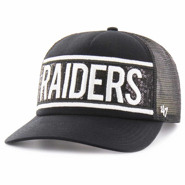 Raiders '47 Brand Glimmer Text Cap