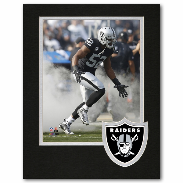 Raiders 8 x 10 Logo Framed Mack Photo