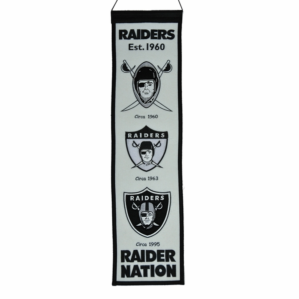 Raiders Alternate Color Heritage Banner