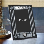 Raiders Art Glass Frame