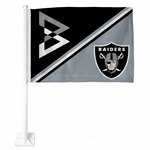 Raiders Beastmode Shield Car Flag