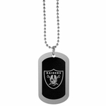 Raiders Black Dog Tag Necklace