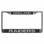 Raiders Black Glitter License Plate Frame