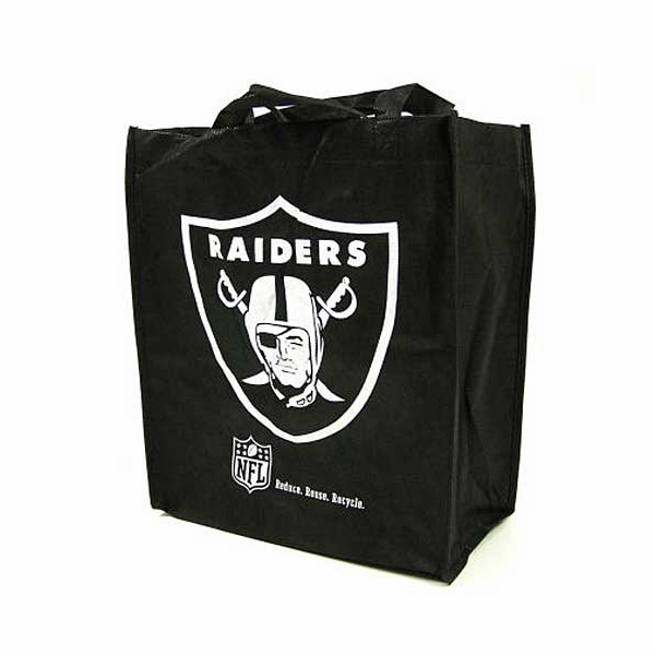 Raiders Black Reusable Bag
