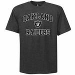 Raiders Charcoal Heart & Soul II Tee