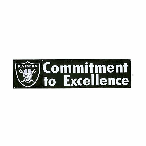 Raiders Commitment to Excellence Eight Foot Banner