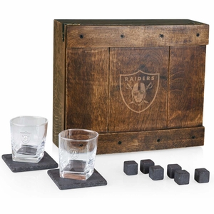 Raiders Deluxe Whiskey Set Gift Box - Click to enlarge