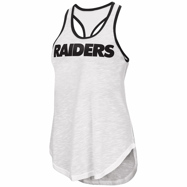 Raiders Game Time White Tank