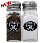 Raiders Glass Salt & Pepper Shakers