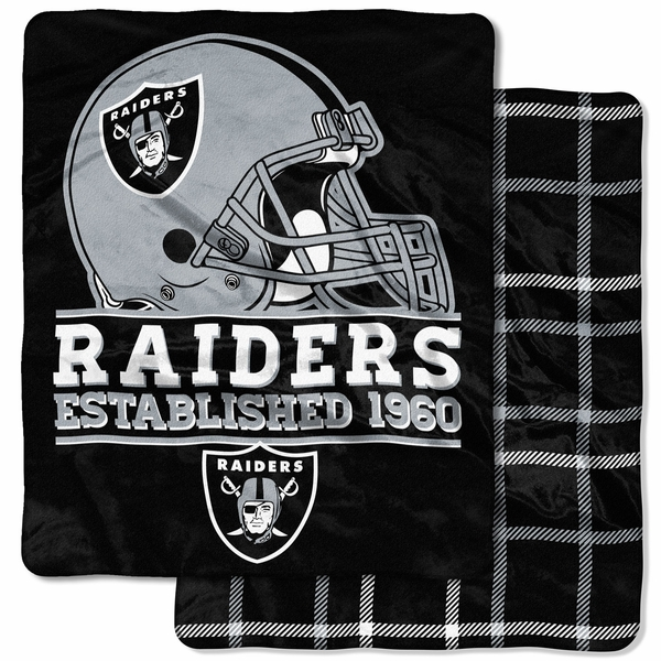 Raiders Home Field Double Sided Cloud Throw