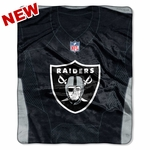 Raiders Jersey Raschel Throw
