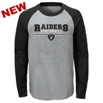 Raiders Juvenile First Line Raglan Tee