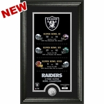 Raiders Legacy Super Bowl Dates Minted Coin