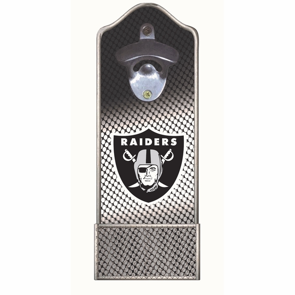 Raiders Lit Bottle Opener Cap Catcher