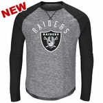 Raiders Majestic Corner Blitz Long Sleeve Tee
