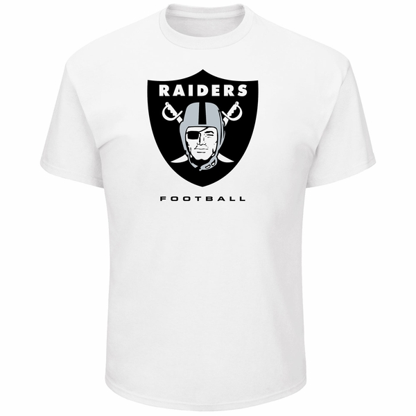 Raiders Majestic Critical Victory White Tee