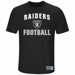 Raiders Majestic Line of Scrimmage Tee