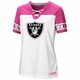 Raiders Majestic Pink & White Draft Me Tee