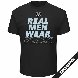 Raiders Majestic Real Men IV Tee - Click to enlarge
