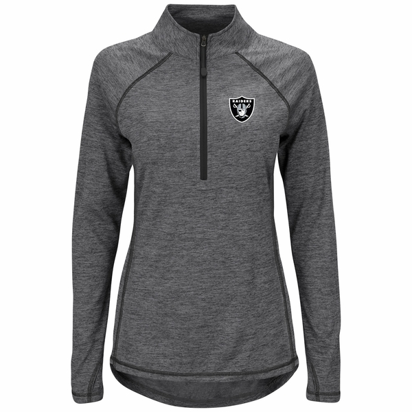 Raiders Majestic Women's Play Action Quarter Zip