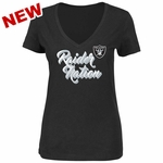 Raiders Majestic Women's Raider Nation IV Tee