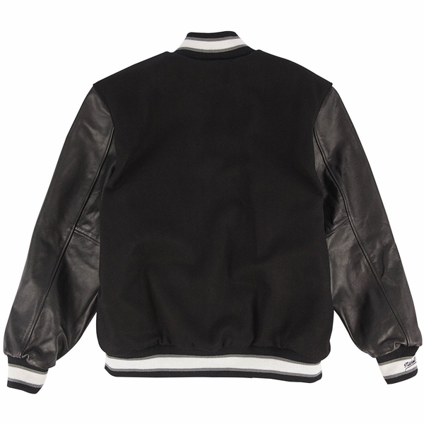 Raiders Mitchell & Ness Wool Leather Varsity Jacket