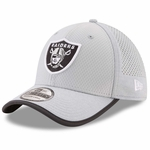 Raiders New Era 39Thirty 2017 Training Camp Grey Cap