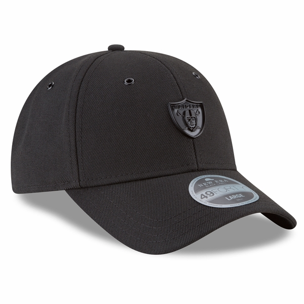 Raiders New Era 49Forty Black Label Matte Metal Cap