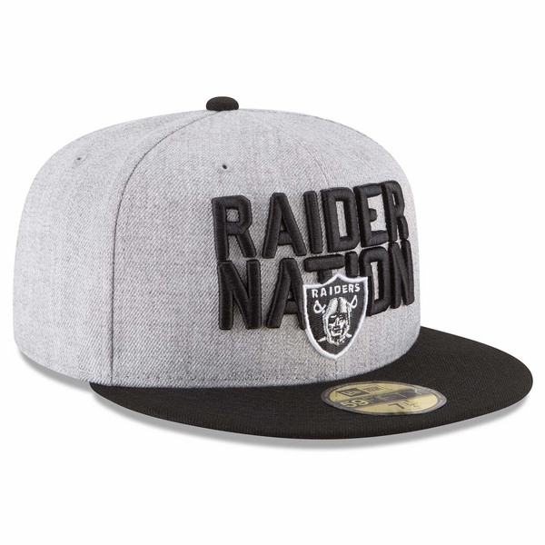 Raiders New Era 59Fifty 2018 On Stage Draft Cap