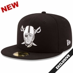 Raiders New Era 59Fifty Chrome Fitted Pirate Cap