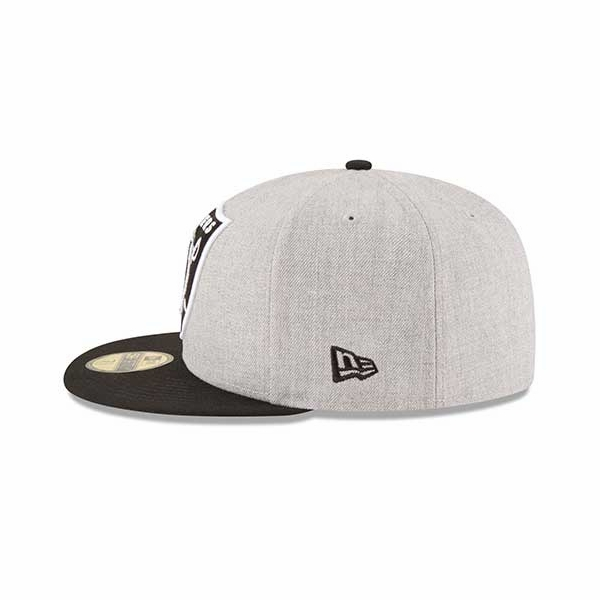 Raiders New Era 59Fifty Heather Grand Cap