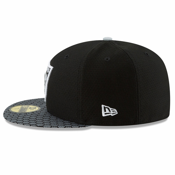 Raiders New Era 59Fifty Official 2017 Sideline Fitted Cap