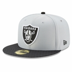 Raiders New Era 59Fifty Official 2017 Sideline Grey Fitted Cap