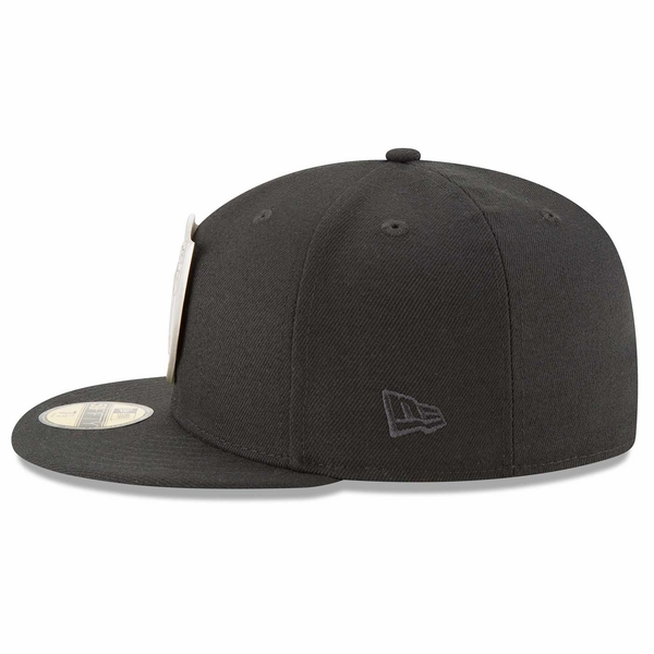 Raiders New Era 59Fifty Oil Tricked Cap