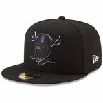 Raiders New Era 59Fifty Pirate Leather Pop Fitted Cap