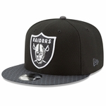 Raiders New Era 9Fifty Official 2017 Sideline Black Cap